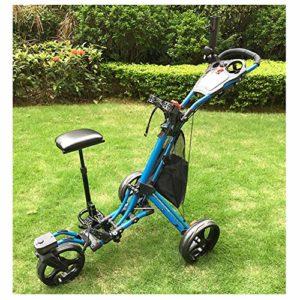 KXDLR Golf Push Cart Léger 3 Roues Pliable Golf Club Push Pull Panier Chariot de Golf Chariot