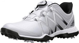 adidas Women's Adipower Boost BOA Golf Shoe, White/Black, 8 M US
