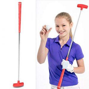 Alomejor Mini Putter de Golf, 27inch Junior Club Putter de Golf en Caoutchouc at Acier Inoxydable Accessorie(Red)