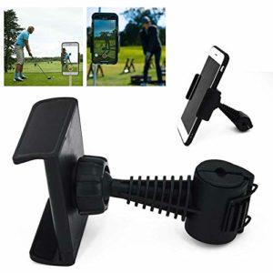 BAODANH Support de téléphone de Golf avec Clip de balançoire de Golf, Enregistrement de balançoire de Golf, Noir, 8.7 * 6.8cm