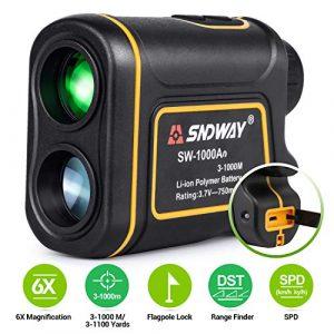BEBANG Télémètre de Chasse Golf, 1000m Plage de Mesure, Laser Rangefinder Grossissement 6X, Balayage Continu, Mesurer la Vitesse Hauteur Angle Distance, Charge USB