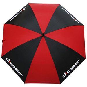 Clicgear Parapluie de Golf: Noir/Rouge