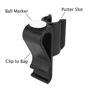 Clips de Putter de Golf, Clips de Support de Club de Pince de Sac de Golf durables avec Accessoires de marqueurs de Balle