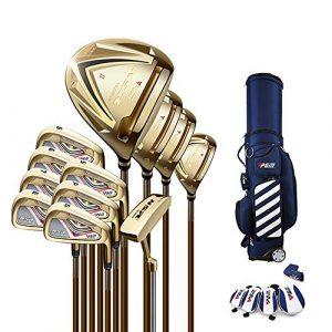 Club De Golf, Set De Clubs De Golf, Angle Réglable pour Manche, Poids Ultra-léger, Convient Aux Golfeurs Professionnels