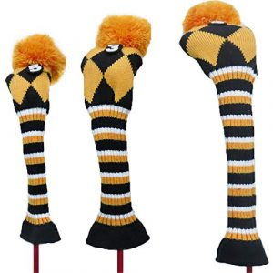 Couvre-Fer Knit Golf Putter Headcover Taille Standard Golf Club Protector Cover 1 3 5 Club Pole en Bois Set Manche Manche De Balle Protection Wedge Couverture (Couleur : C3, Size : Free)