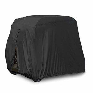 Create Idea Housse de Voiture de Golf Imperméables 4 Siège Passager 210D Tissu en Polyester Durable Noir 285 * 122 * 168cm