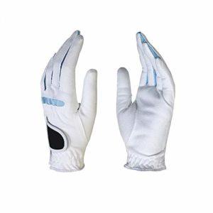 DAG-Outdoor Supplies Equipement de Pratique de Golf Fonctionnel Blanc 1 Paire de Gants de Golf Gants en Microfibre pour Femmes Gants de Golf Souples et Respirants, Main Gauche, Gants à la Main Rose