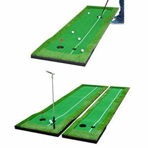 DorisAA Hommes Golf Putting Green/Mat-Tapis d'entraînement de Golf – Tapis d'entraînement de Golf Professionnel – Vert Long Putter Stimulant pour intérieur/extérieur
