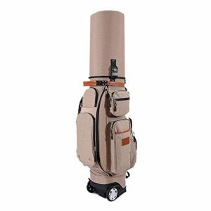 DorisAA Sac de Golf étanche Multifonction pour Adulte avec Support de Golf et Housse de Pluie, antivol, Nylon, C4, with Rain Cover