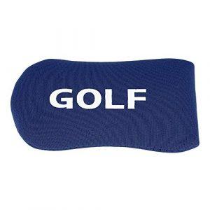 Dwawoo Tête de Golf Couverture,Couvre-Tête de Fer en Nylon de Golf, Accessoire de Golfeur Protection de Golf(Blue)