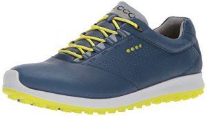 ECCO Men's Golf Biom Hybrid 2, Chaussures Homme, Bleu (Denim Blue/Sulphur), 40 EU