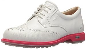ECCO Women's Classic Hybrid Golf Shoe, White/Teaberry, 37 M EU (6-6.5 US)
