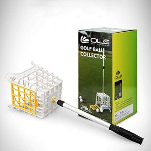 Équipement de Golf récupérateur de Balle de Golf télescopique en Hauteur réglable pour récupération de Balle de Golf Grande capacité Grabber de Balle de Golf Portable léger