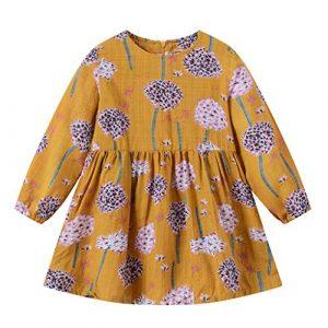 Filles Bébé Robes Princesse Dress Fleurs de Pissenlit Dress Girls Skirt Deguisement Enfant Jupe Tutu Anniversaire Fête