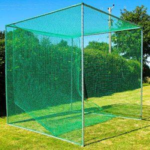 FORB Cage de Golf Autoporteur & Filet Professionnel   Filet d'Entraînement de Golf & Tapis de Practice (3m x 3m x 3m) (FORB Cage + Tapis d'Entraînement)