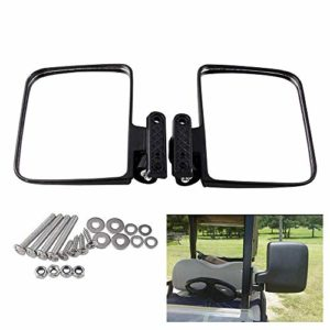 governingsoldiers Golf Cart miroirs latéraux Miroir Pliant Universel pour voiturettes de Golf du Club Accessoires Voiture