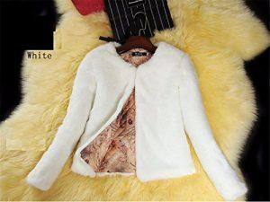 GS~LY L'émulation courte Le processus de cheveux lapin blanc,Veste,s