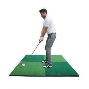 Hh001 Tapis de Golf Tapis de Golf Tapis de Golf Tapis de Balle d'exercice intérieur et extérieur à Deux Couleurs pour Le Golf (Color : Green, Size : 150CM*150CM)