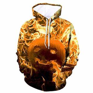 Hoodies 3D Imprimer Mens Nouveau Style Garçons Vestes Effrayant Halloween Pull À Capuche Partie À Capuche À Manches Longues Blouse