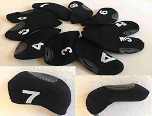 Iron Covers -Black – 10 Stück Schlägerhauben Head Covers vom PGA Pro