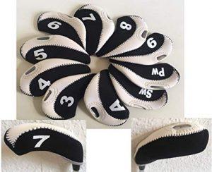Iron Covers -Black White- 10 Stück Schlägerhauben Head Covers vom PGA Pro