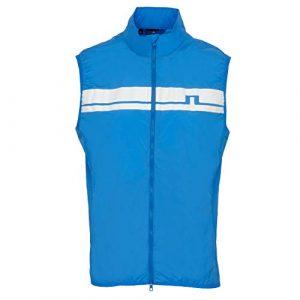 J. Lindeberg Lou Light Stretch Gilet Coupe-Vent pour Homme Bleu Taille L