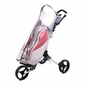 JIACUO Sac de Golf Housse de Pluie PVC Transparent Ballon étanche Poncho Bag Poncho Golf Equipment