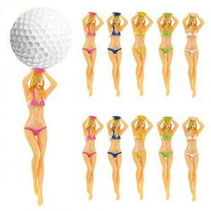 JooDon Bikini Coloré Femme Tees De Golf T-Shirt en Plastique Lady Lady Tee De Golf Divot Outil