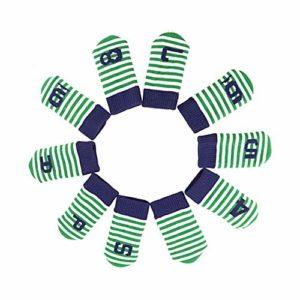 KEBY Lot de 10 Housses de tête tricotées pour Golf Club Vert