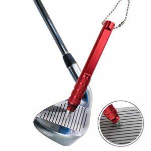 kofull Professional Golf Wedge Club de Nettoyage d'affûtage des Outils de Nettoyage Cales et Fers, Red