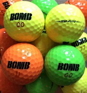 lbc-sports 36 TopFlite Bomb Balles de Golf AAAA – AAA – Multicolores – Balles de Golf usagées