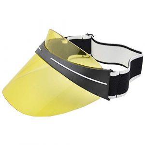 Lixada Visière en Plastique Transparente pour Chapeau de Soleil Sports de Plein air Plage Voyage Golf Casquette de Chapeau de visière