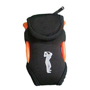 LNIMIKIY Mini Sac de Golf Portable en néoprène avec 4 Tees et 2 balles Blanc, Noir
