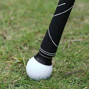 LYX Paquet de 2 Golf Ball Picker, Balle de Golf Choisir l'outil, Picker Boule en Caoutchouc Portable, Mini Sucker, Practice de Golf Équipement Caoutchouc Golf Club Accessoires (Color : Black)