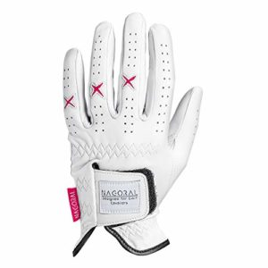 NAGORAL Gant de Golf en Polar White avec Une Grande Gamme de Couleurs Disponibles. 100% Cuir Cabretta de Haute qualité pour Un Grip Parfait et Une Bonne Prise en Main sur Le Parcours. pour Femmes