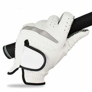 Nealpar 12 PCS Gants de Golf Hommes Gant de Golf Doux Respirant Pur Peau de Mouton Véritable Cuir antidérapant Conception Drop Ship