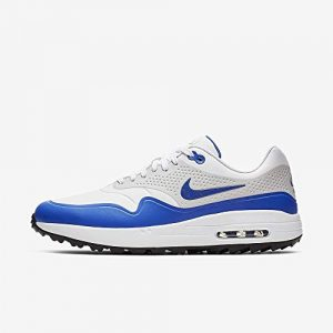 Nike Air Max 1 G, Chaussures de Golf Homme, Multicolore (White/Game Royal/Neutral Grey 102), 44 EU