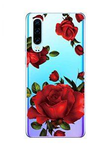 Oihxse Clair Case pour Huawei P30 Coque Ultra Mince Transparent Souple TPU Gel Silicone Protecteur Housse Mignon Motif Dessin Anti-Choc Étui Bumper Cover (A7)