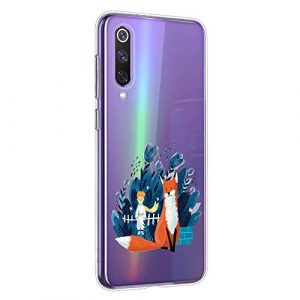 Oihxse Clair Case pour Huawei P40 Pro Coque Ultra Mince Transparent Souple TPU Gel Silicone Protecteur Housse Mignon Motif Dessin Anti-Choc Étui Bumper Cover (A5)