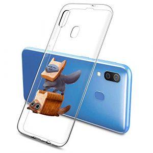 Oihxse Clair Case pour Samsung Galaxy A320/A3 2017 Coque Ultra Mince Transparent Souple TPU Gel Silicone Protecteur Housse Mignon Motif Dessin Anti-Choc Étui Bumper Cover (A2)