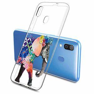 Oihxse Clair Case pour Samsung Galaxy C9 Pro Coque Ultra Mince Transparent Souple TPU Gel Silicone Protecteur Housse Mignon Motif Dessin Anti-Choc Étui Bumper Cover (A12)
