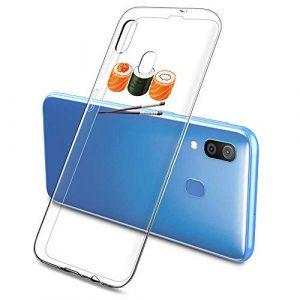 Oihxse Clair Case pour Samsung Galaxy J4 Plus 2018 Coque Ultra Mince Transparent Souple TPU Gel Silicone Protecteur Housse Mignon Motif Dessin Anti-Choc Étui Bumper Cover (A13)