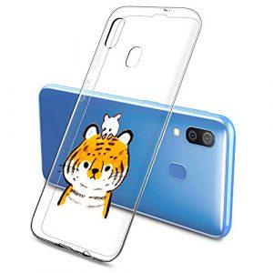 Oihxse Clair Case pour Samsung Galaxy J5 2017/J530/J530 Pro Coque Ultra Mince Transparent Souple TPU Gel Silicone Protecteur Housse Mignon Motif Dessin Anti-Choc Étui Bumper Cover (A1)