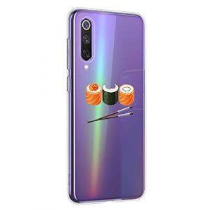 Oihxse Clair Case pour Xiaomi Mi CC9PRO/NOTE10PRO/NOTE10 Coque Ultra Mince Transparent Souple TPU Gel Silicone Protecteur Housse Mignon Motif Dessin Anti-Choc Étui Bumper Cover (A13)