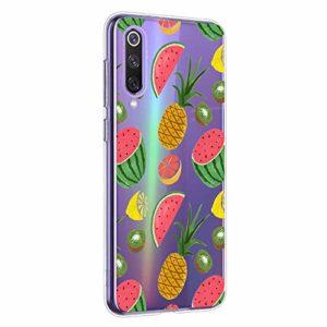 Oihxse Clair Case pour Xiaomi Mi CC9PRO/NOTE10PRO/NOTE10 Coque Ultra Mince Transparent Souple TPU Gel Silicone Protecteur Housse Mignon Motif Dessin Anti-Choc Étui Bumper Cover (A4)