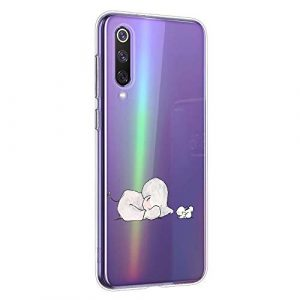 Oihxse Compatible pour Huawei P Smart 2019/Honor 10 Lite Coque [Mignon Transparente Éléphant Lapin Motif Séries] Housse TPU Souple Protection Étui Ultra Mince Anti Choc Animal Case (A9)