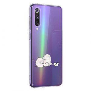 Oihxse Compatible pour Samsung Galaxy J4 Plus 2018 Coque [Mignon Transparente Éléphant Lapin Motif Séries] Housse TPU Souple Protection Étui Ultra Mince Anti Choc Animal Case (A9)