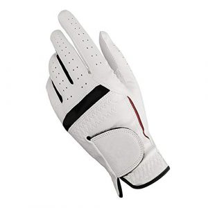 Ouqian Gant de Golf pour Hommes Gants de Golf Gants de Golf Respirant Wearable Hommes 22, 23, 24, 25, 26 Yards Gants Blancs (Couleur : White, Size : 23)