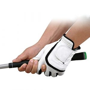 Ouqian Gant de Golf pour Hommes Gants de Golf Respirant Hommes PU antidérapante Simple Applicable Scène Sport Équipement de Protection Accessoires de Golf (Couleur : Right Hand, Size : 27)