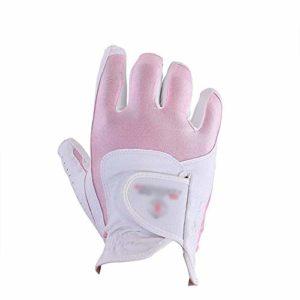 Pratique Gants de Golf Souples et Respirants Gants de Golf Flexibles et antidérapants pour la Pratique, Blanc, Rose, Gants sans Doigts pour Femmes (Couleur : Rose, Taille : M)